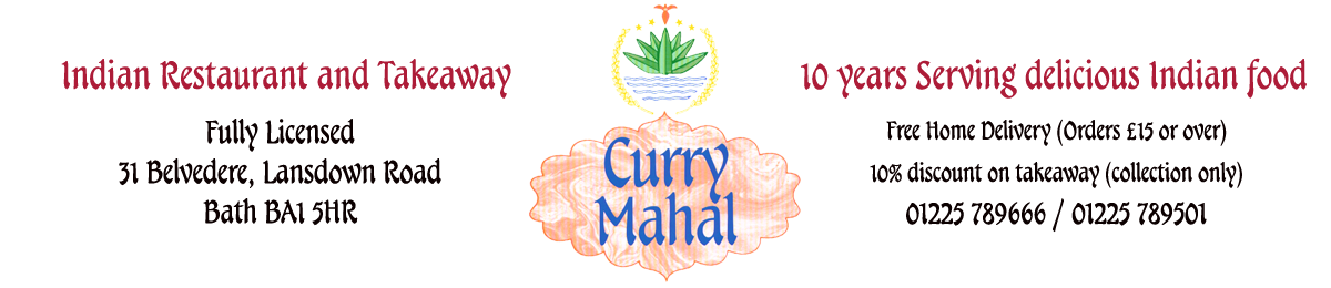 Curry Mahal Indian Restaurant in Bath Logo